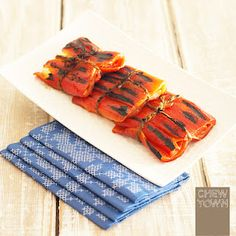 A quick and easy mezes recipe to try at home - grilled red pepper wrapped haloumi.