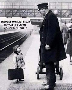 EXCUSEZ - MOI MONSIEUR LE TRAIN POUR UN MONDE MEILLEUR..?