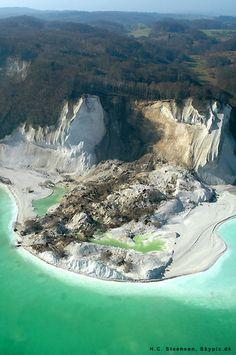 Landslide at Møns Klint, Aerial