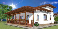 Sunt frumoase proiectele de case tradiționale românești concepute de arhitectul Adrian Păun | Adela Pârvu - Interior design blogger Gazebo, Pergola, Modern Bungalow House, House Plans, Outdoor Structures, Mansions, House Styles, Interior, Romania