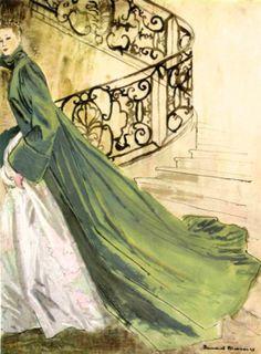 Manteau du soir de Lucile Manguin, illustration Bernard Blossac, 1947