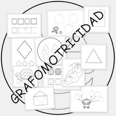Fichas grafomotricidad con figuras geométricas Activities For Kids, Projects To Try, Gallery Wall, School, Frame, Maths, Home Decor, Literacy Activities, Note Cards
