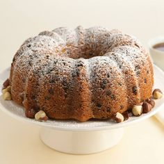 Turn a cake mix into an impressive dessert by flavoring the batter with McCormickandreg; Hazelnut Flavor and baking in a Bundt pan.
