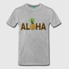 Brown, gold and green Hawaiian pineapple vintage grunge graphic with a pineapple for the letter O. Great for Hawaii island tropical pride or just a cool style.