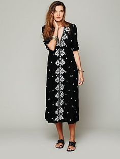 Embroidered Fable Dress  by Free People