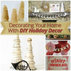 To help inspire your #holiday creativity, here are the DIY holiday décor items that were made for the Fabulously #Festive Design Contest. Each of these décor pieces is simple to make, inexpensive, and 'Fabulously Festive'. #happyholidays