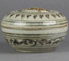 sawankhalok ceramics | Details about ANTIQUE THAI SAWANKHALOK POTTERY BOX FROM PHDS ...
