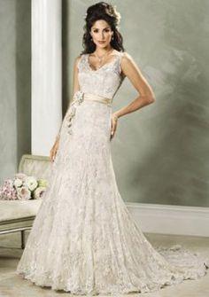 Atractivos princesa v-cuello capilla tren vestidos de novia baratos