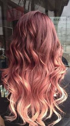 Still loving this rose gold ombre hair