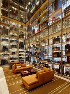 Louis Vuitton Store by Peter Marino, London Bond Street store design Boutique Interior, Louis Vuitton Store, Louis Vuitton Handbags, Vuitton Bag, Design Commercial, Commercial Interiors, Shops, Retail Interior, Top Interior Designers