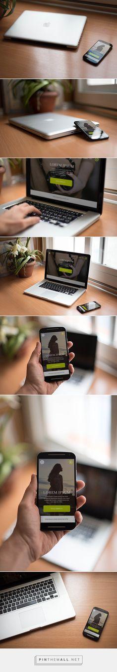 7 FREE Smartphone & Notebook PSD Mockups  on Behance - created via http://pinthemall.net