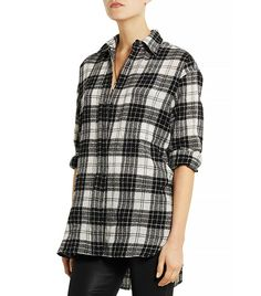 R13 Oversized Plaid Wool Shirt