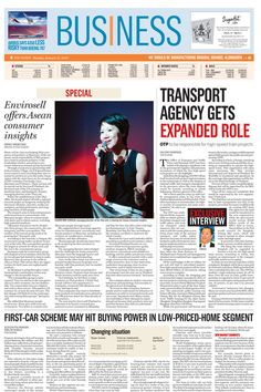 The NATION, Business Section's cover page, January 21, 2013
