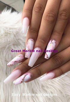 24 Chic marble nail art design ideas - marble nails, chic nail art designs, nail inspiration, nails in 2020 Hallographic Nails, Diva Nails, Fun Nails, Pretty Nails, Coffin Nails, Glitter Nails, Manicure, Chic Nail Art, Chic Nails
