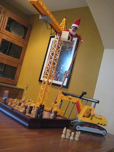 Elf on the Shelf ~ Playing Construction Chess 3....Flickr - Photo Sharing!
