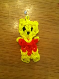 Loom band Winnie the Pooh I made!