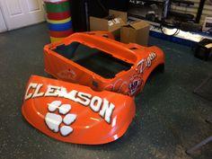 Custom painted Clemson Tigers golf cart body