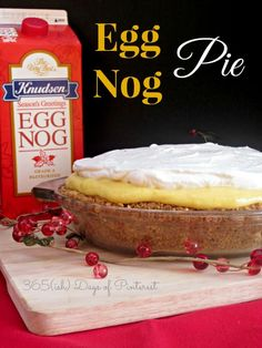 This eggnog pie is p