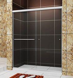 Buy Sunny Shower in. Frameless Shower Door Sweep Bottom Seal Wipe Drip Rail Pre-Cut 28 in. Tub Shower Doors, Frameless Sliding Shower Doors, Sliding Doors, Shower Installation, Bathroom Fixtures, Bathroom Vanities, Glass Texture, Glass Design, Clear Glass