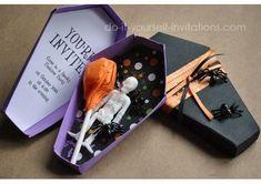 Ideias para festas de #Halloween: O convite pode ser um caixão! http://vilamulher.terra.com.br/festa-de-halloween-ideias-para-a-decoracao-17-1-7886462-271.html