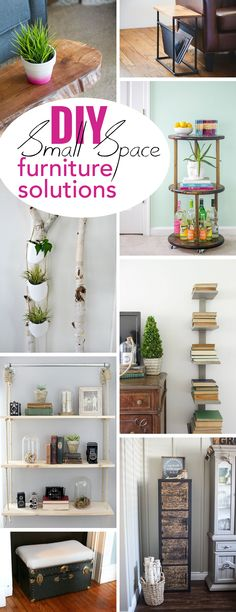 Small on space just means you have to get smart about solutions! These easy, versatile and gorgeous pieces of furniture help you save space in any room and add tons of personality and style. Get the full 22 ideas here: http://www.ehow.com/how_12342978_10-small-space-furniture-diy-solutions.html?utm_source=pinterest.com&utm_medium=referral&utm_content=curated&utm_campaign=fanpage