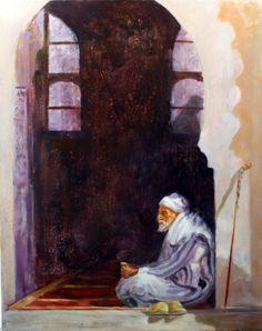 En la puerta de la Mezquita Óleo sobre Lienzo