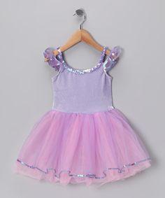 Lilac & Pink Velvet Rainbow Dress - Toddler & Girls