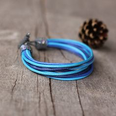 Blue shades African bracelet  Multistrand colorful by Naryajewelry