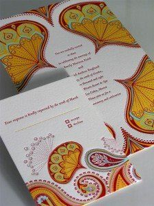 love paisley on these letterpress invitations - not sure where they are from.