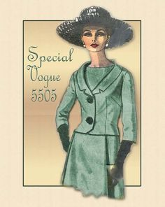 Vogue Special Design # Fashion One Piece Dress and Jacket. My current project. 1960s Fashion, High Fashion, Vintage Fashion, Womens Fashion, David Downton, Pattern Recognition, Dress Making Patterns, Fashion Forever, One Piece Dress