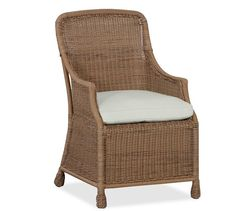 Saybrook All-Weather Wicker Dining Armchair | Pottery Barn