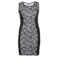 Praslin Floral Illusion Dress - Large Size Clothing and Maternity Wear - www.plussizedglamour.co.uk