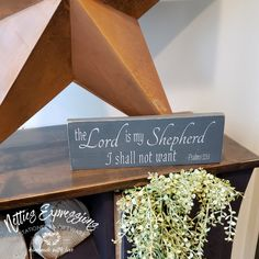 The Lord is my Shepherd - Rustic Wood Sign | Netties Expressions