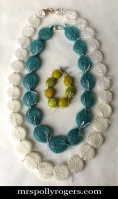 Simple Knit Winter Jewelry by Mrs. Polly Rogers - Free DIY tutorial