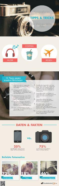 Lasse dich von diesen Tipps und Tricks inspirieren! Eine wunderschöne Infografik für inspirierende Foto-Ideen. #Infografik #Fototipps
