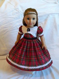 American Girl Special Occasion Gown  / Clothes for Marie Grace, Cecile or Caroline. $72.00, via Etsy.
