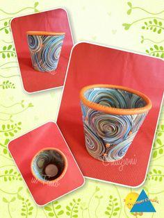 Porta tea light decorato con paste polimeriche