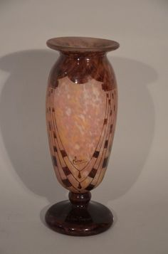 Motif Art Deco, Home Decor Vases, Souffle, France, Objet D'art, Decoration, Pottery, Windows, Glass Art