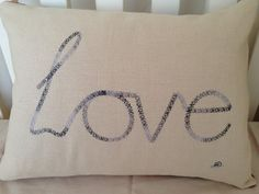 Love homemade embroidery cushion by LMDSimplyBe on Etsy, £25.00