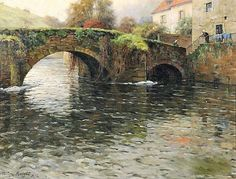 Old Bridge at Quimperle - Counted cross stitch pattern in PDF format by Maxispatterns on Etsy