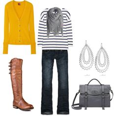 Love the yellow sweater and awesome boots!