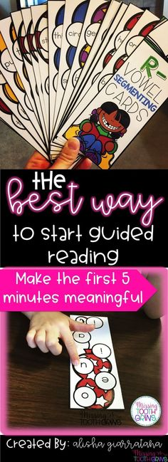 The best way to start guided reading! Start the first five minutes of guided reading with this fun game to review phonics skills and vowel sounds! Kids love this game and ask to play over and over again!