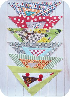 more scrap busting triangles |@penny shima glanz