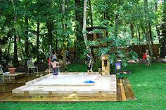 backyard splash pool