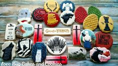 Love Bug Cakes and Cookies - Game of Thrones cookies