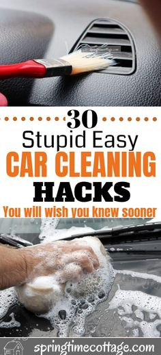 You will literally love cleaning your car after reading this. Thee car cleaning hacks will blow your mind. Learn these 30 car cleaning hacks that will make you think to yourself, why didn't I think of that before? Cleaning Inside Of Car, Diy Car Cleaning, Diy Cleaning Products, Diy Interior Car Cleaning, Cleaning Supplies, Cleaning Recipes, Cleaning Solutions, Car Wash Tips, How To Wash Car