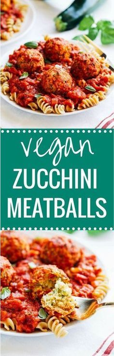 Vegan Zucchini 'Meatballs' - less than 10 ingredients and 20 minutes to make! Each serving offers 25 grams of plant-based protein! (vegan gluten-free)