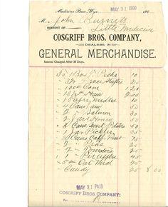 Cosgriff Bros. Copany, Medicine Bow, Wyo., May 31, 1900