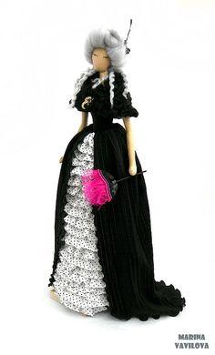 "Коллекционные куклы ручной работы. Ярмарка Мастеров - ручная работа кукла-тряпиенс ""После маскарада"". Handmade."