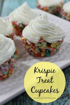 Springtime Krispie Treat Cupcakes